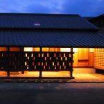 夜景 木の家