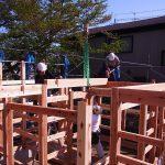 上棟工事 木の家